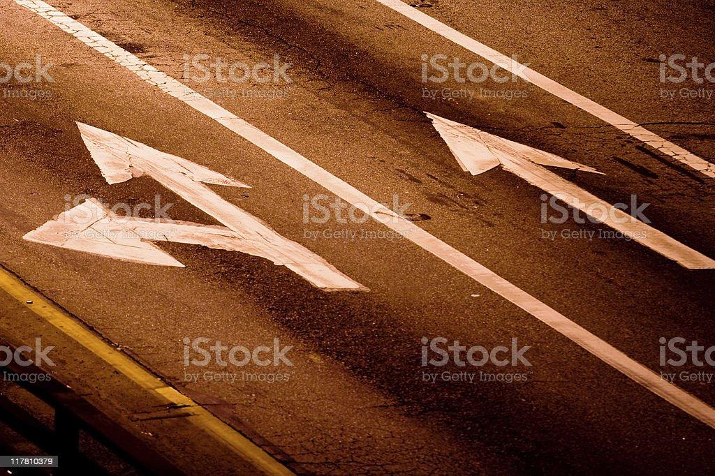 Road Arrows stock photo