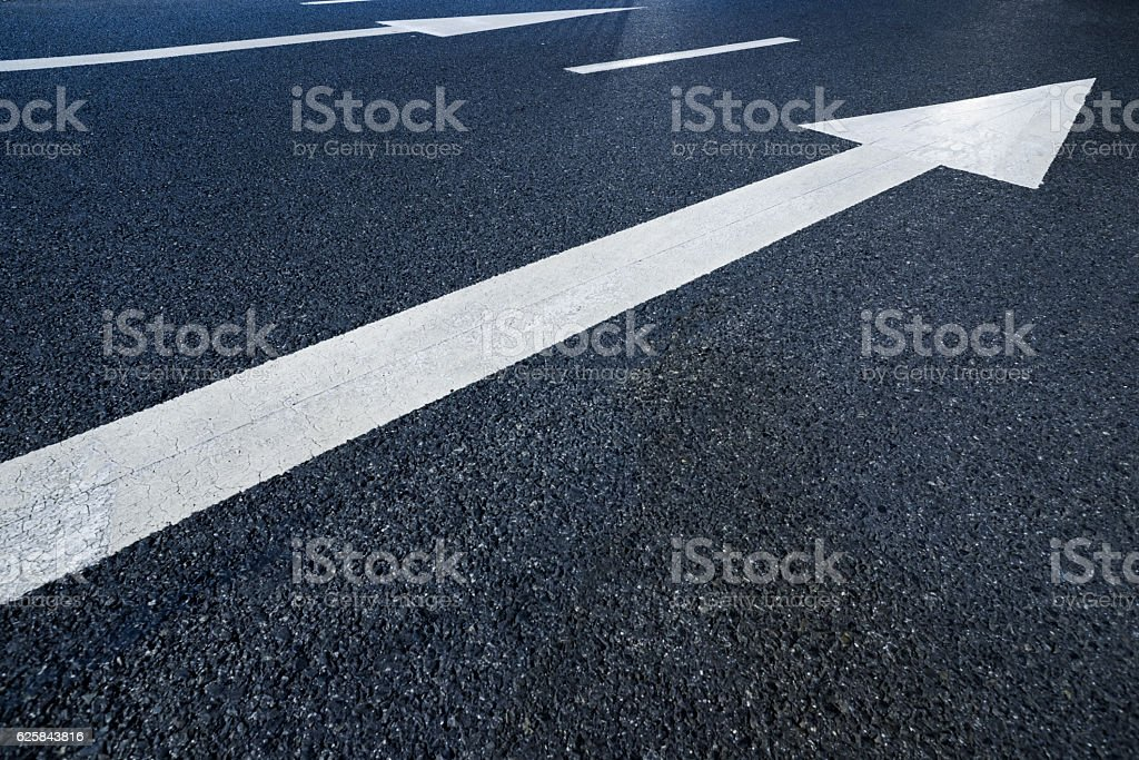 Road arrows stock photo