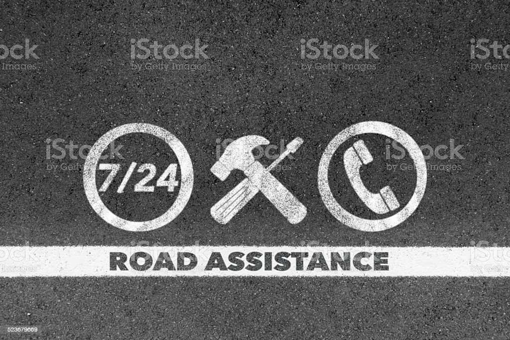 road assistance stock photo