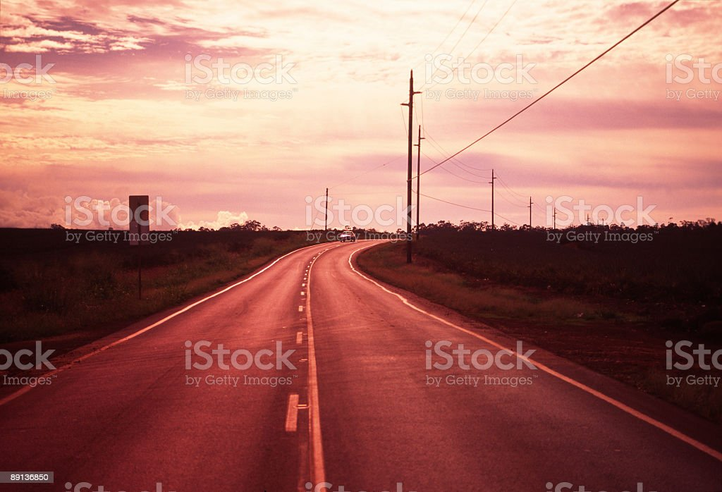Road at evening royalty-free stock photo