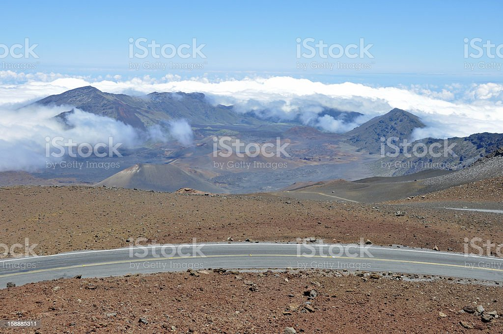 Road at Haleakala National Park, Maui (Hawaii) royalty-free stock photo