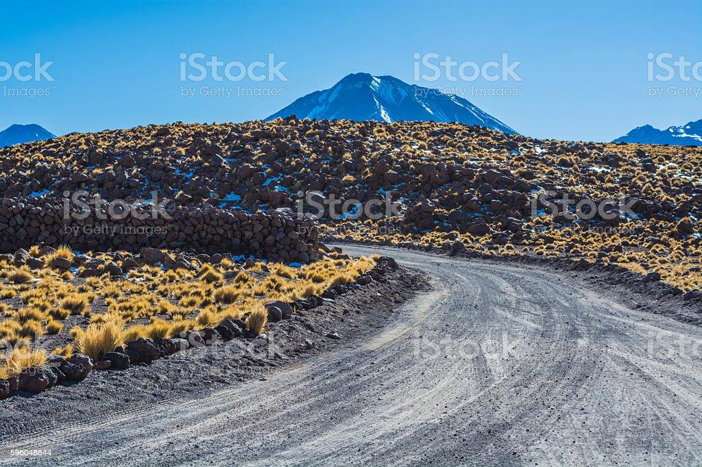 Road at the atacama desert royalty-free stock photo