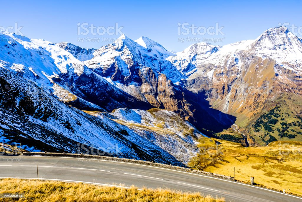 road at the grossglockner mountain stock photo
