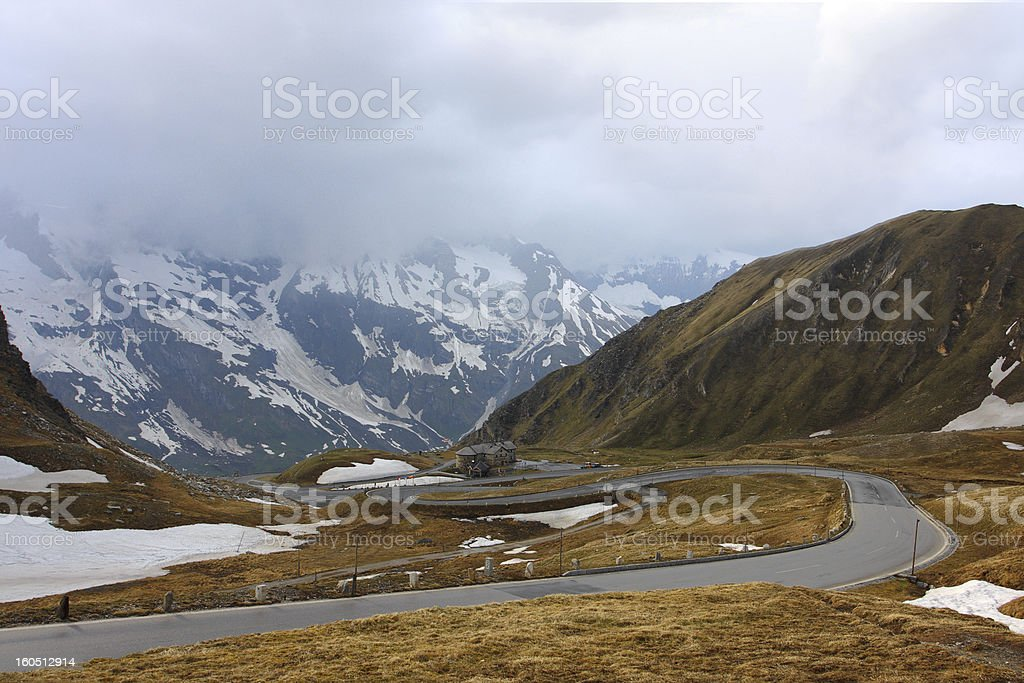 road at the mountains royalty-free stock photo