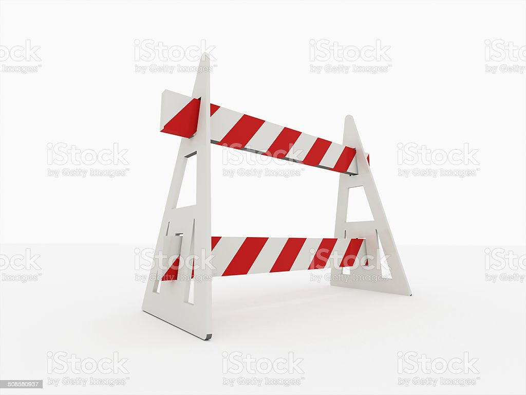Road barrier isolated stock photo