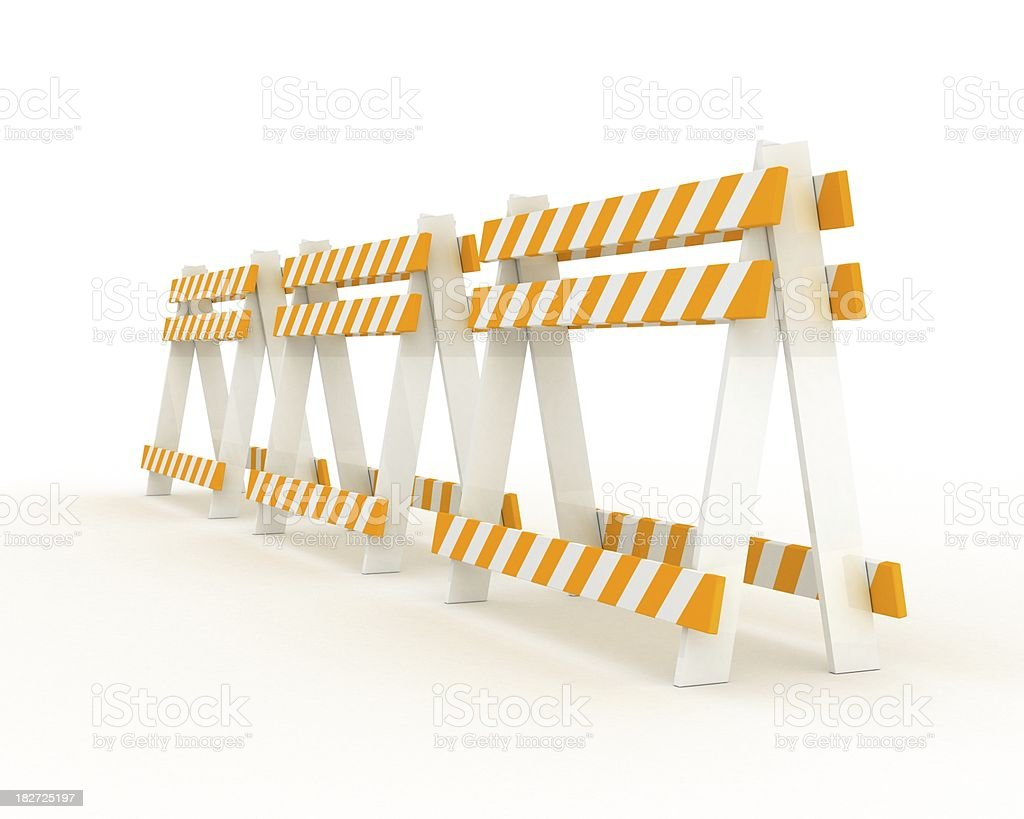 road barriers stock photo
