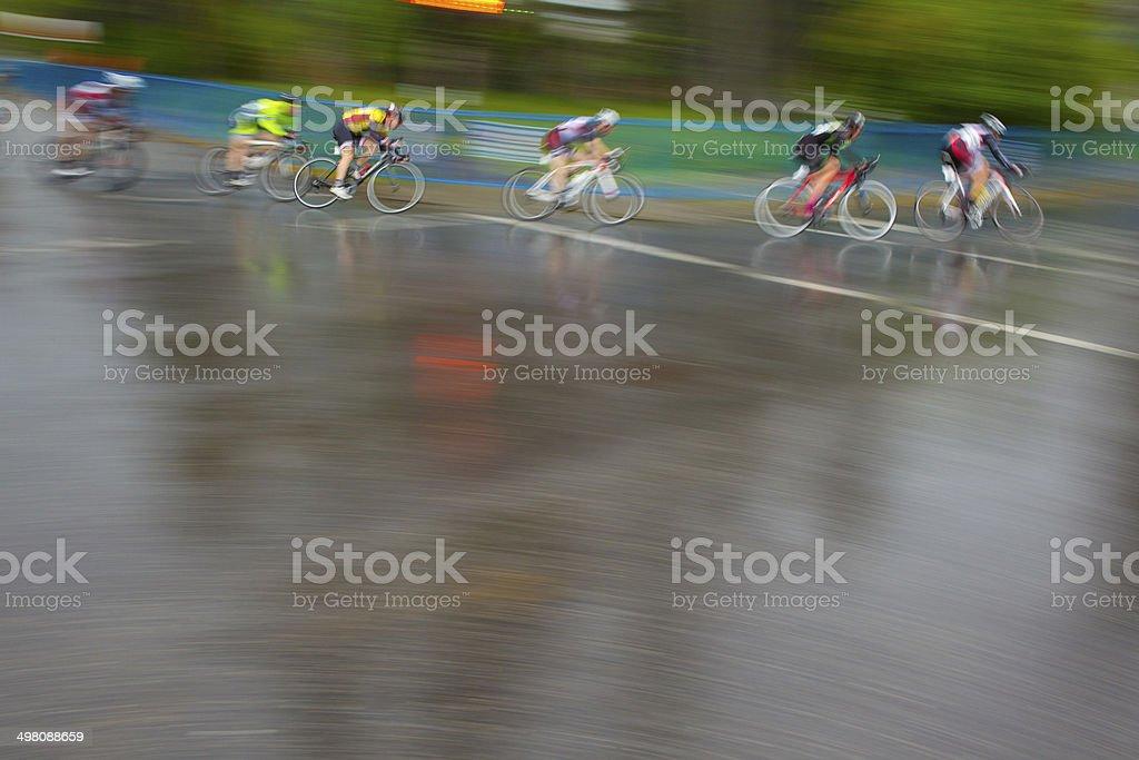 Road Bicycle Criterium Race stock photo