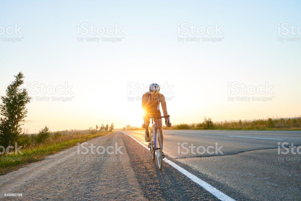 Road bicycle racing stock photo