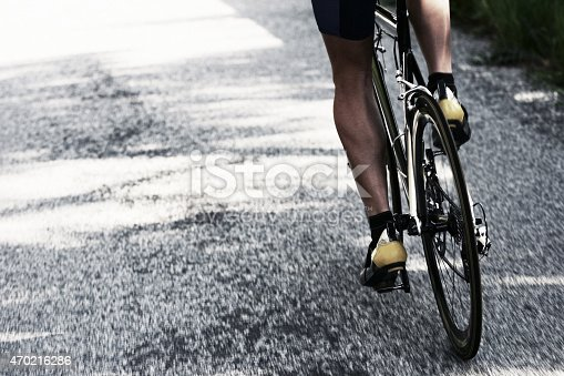 istock Road Bicycle Rider Man 470216286