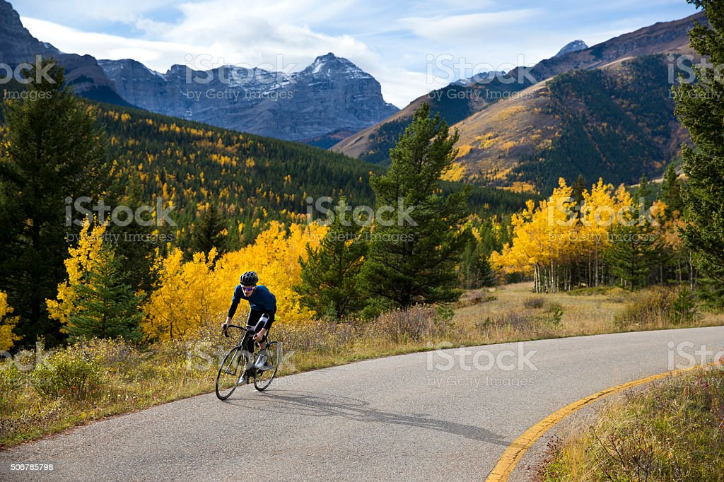 Strada Bicyclist uomo - foto stock