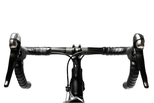 road bike handlebar carbon stock photo