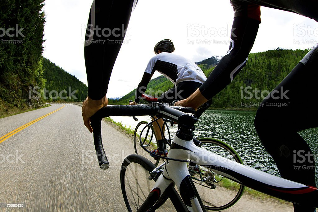 Strada Bike Riders - foto stock