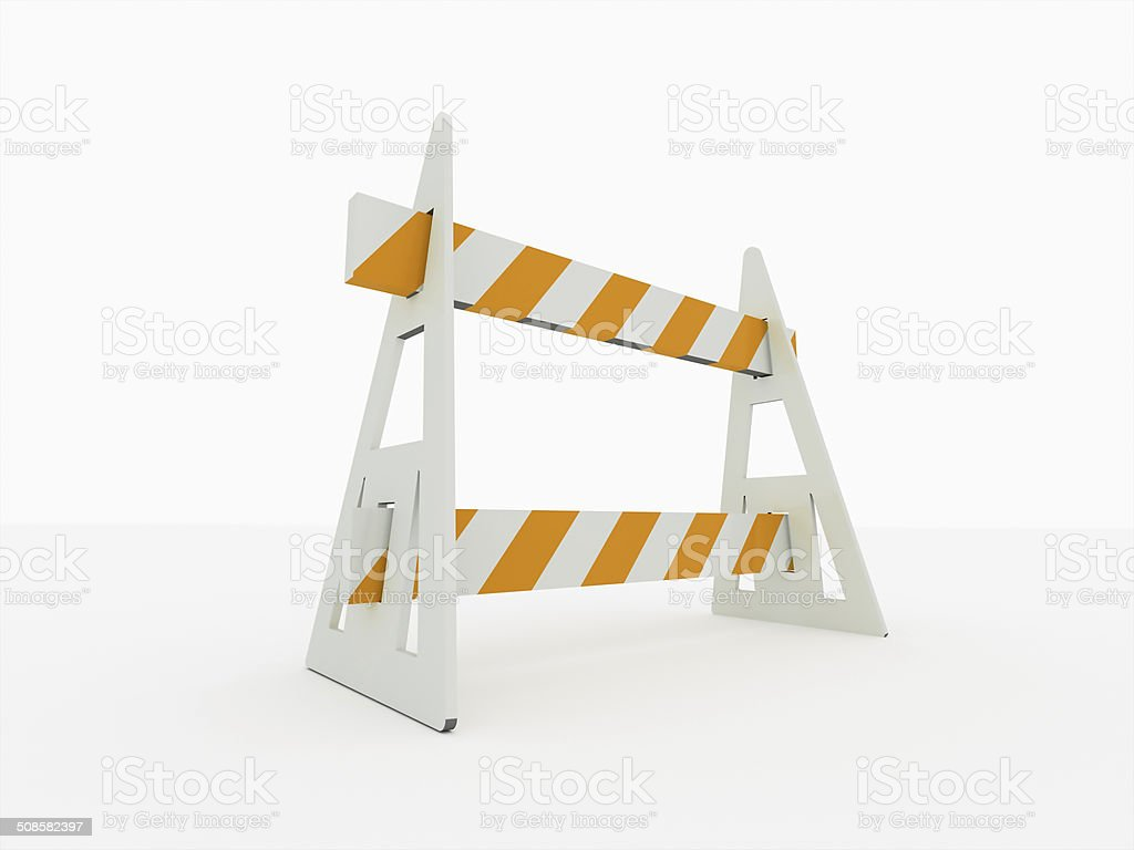 Road block barrier stock photo
