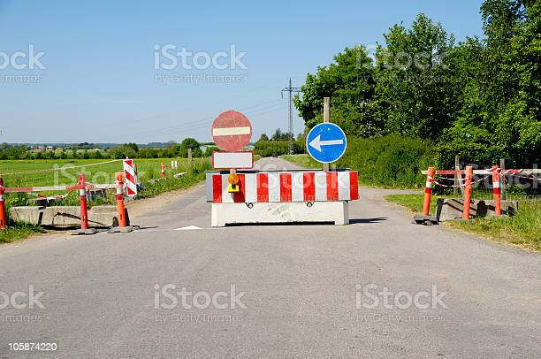 Road Block Stock Photo - Download Image Now