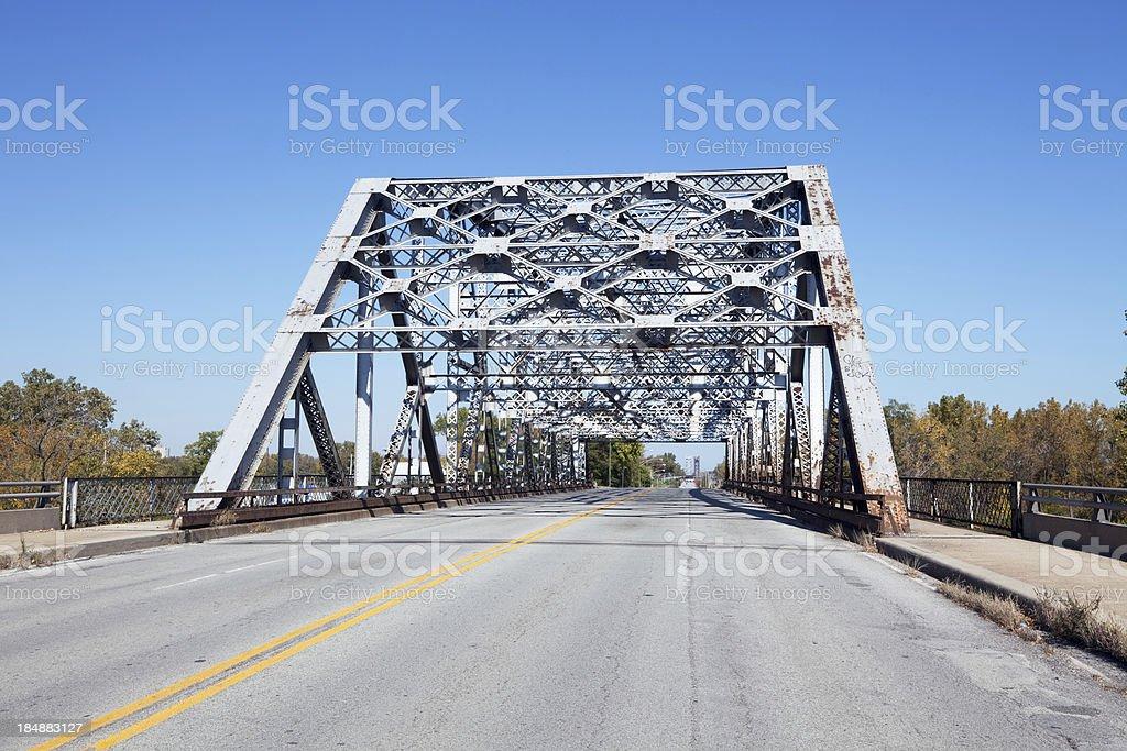 Road Bridge across the Calumet River in Hegewisch, Chicago royalty-free stock photo