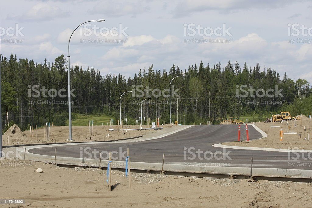 Road building and paved asphalt royalty-free stock photo