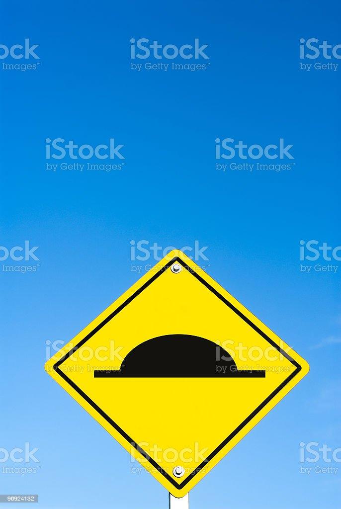 Road bump sign royalty-free stock photo