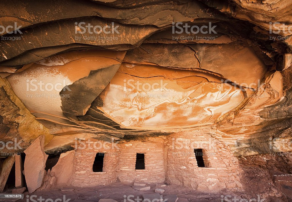 Road Canyon Fallen Roof Ruin stock photo