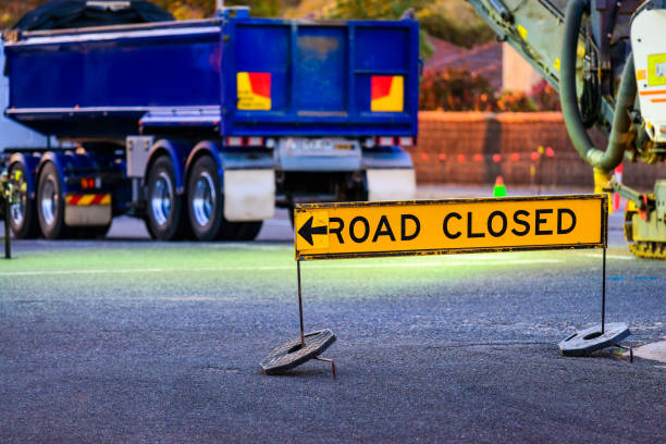 Straße gesperrt Australische Schild – Foto