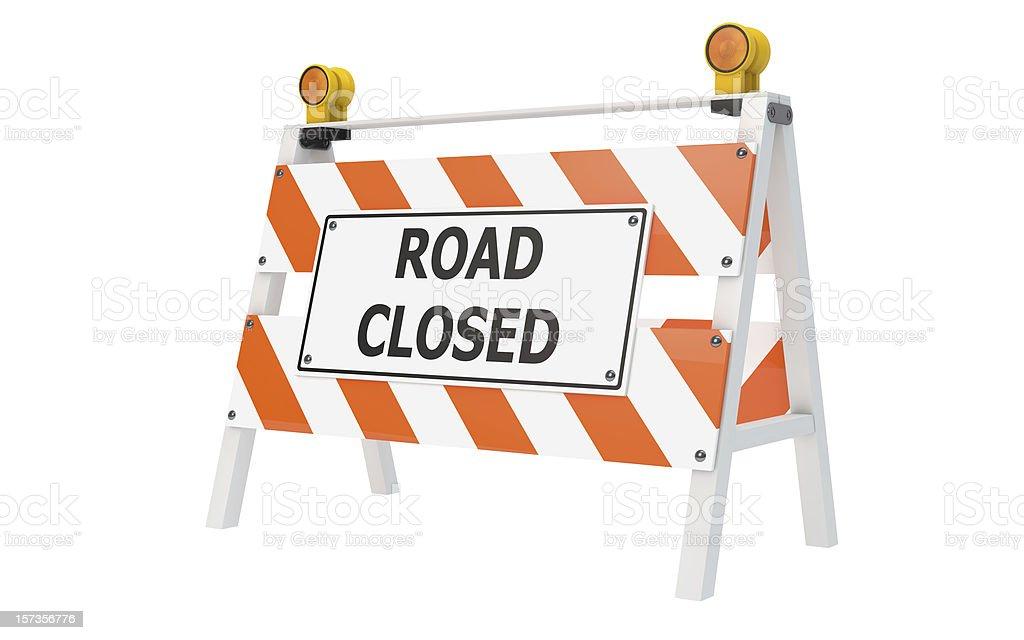 Road Closed Barrikade Bau – Foto