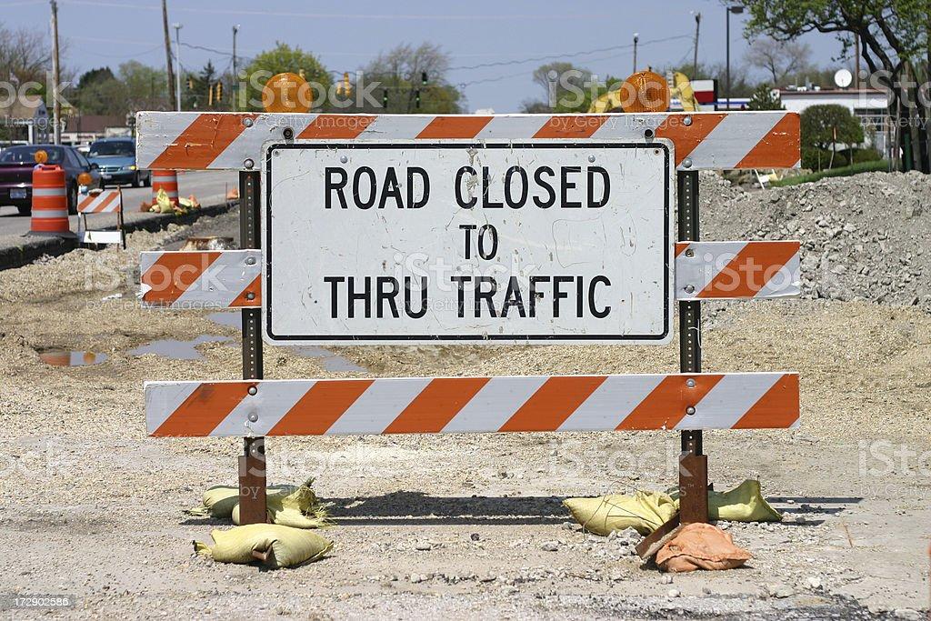 Road Closed Barricade royalty-free stock photo
