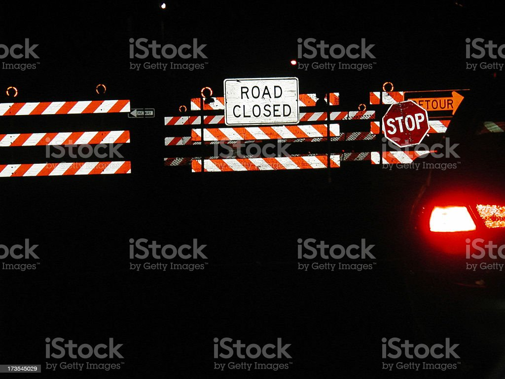 Road Closed royalty-free stock photo