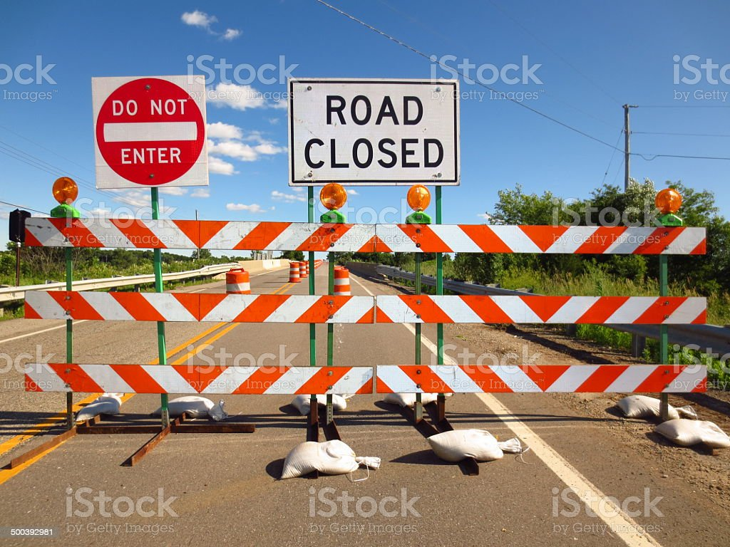 Road Closed stock photo