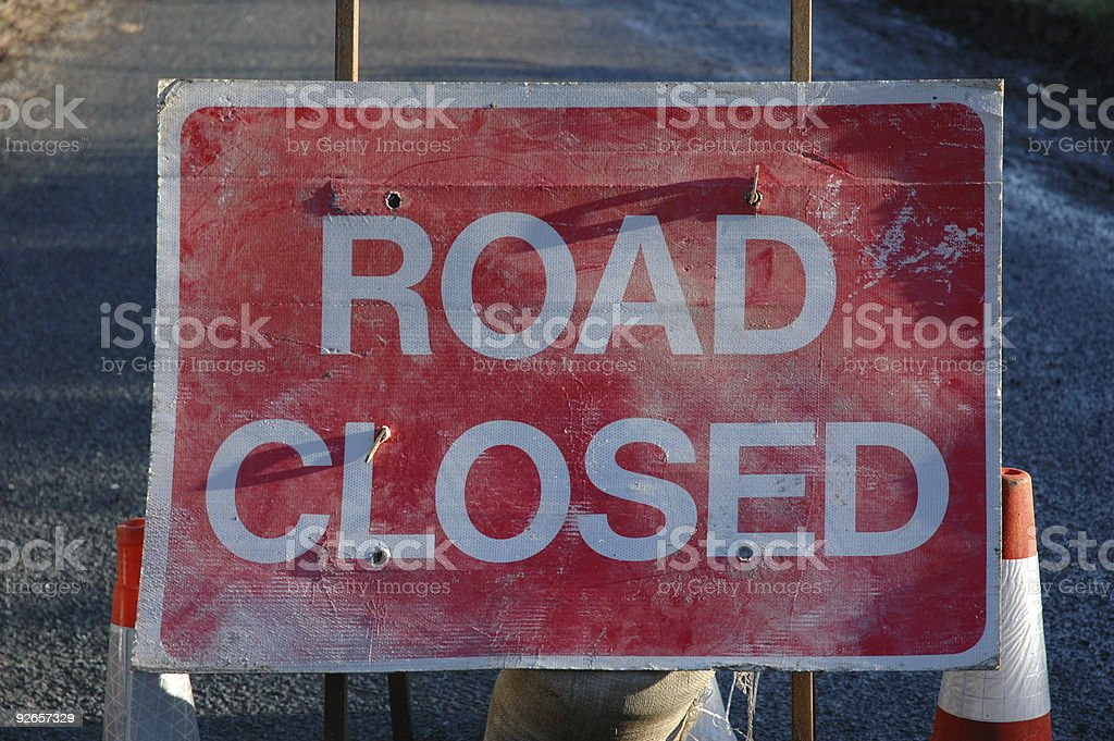 Road Closed royalty-free stock photo