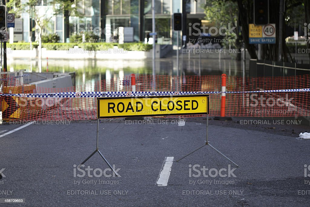 Road Closed Sign royalty-free stock photo