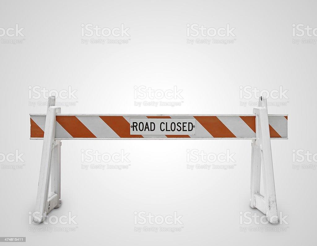 road closed symbol stock photo