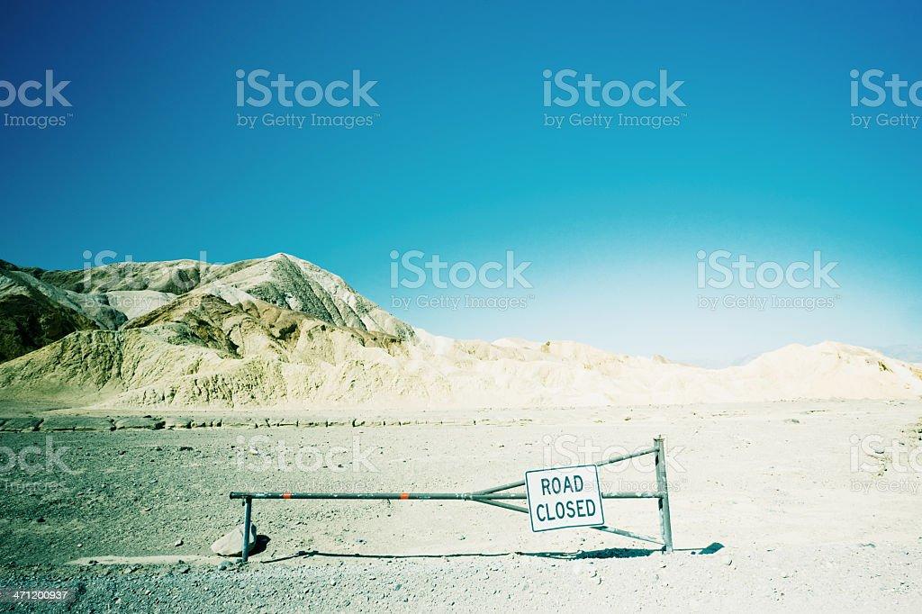 Road Closed Zabriskie Point USA royalty-free stock photo