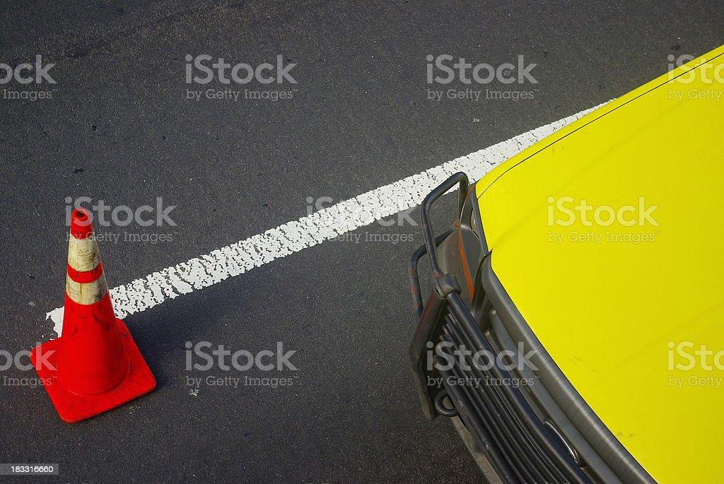 road construction abstract royalty-free stock photo