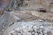 Giant quarry on the Istrian peninsula in Croatia