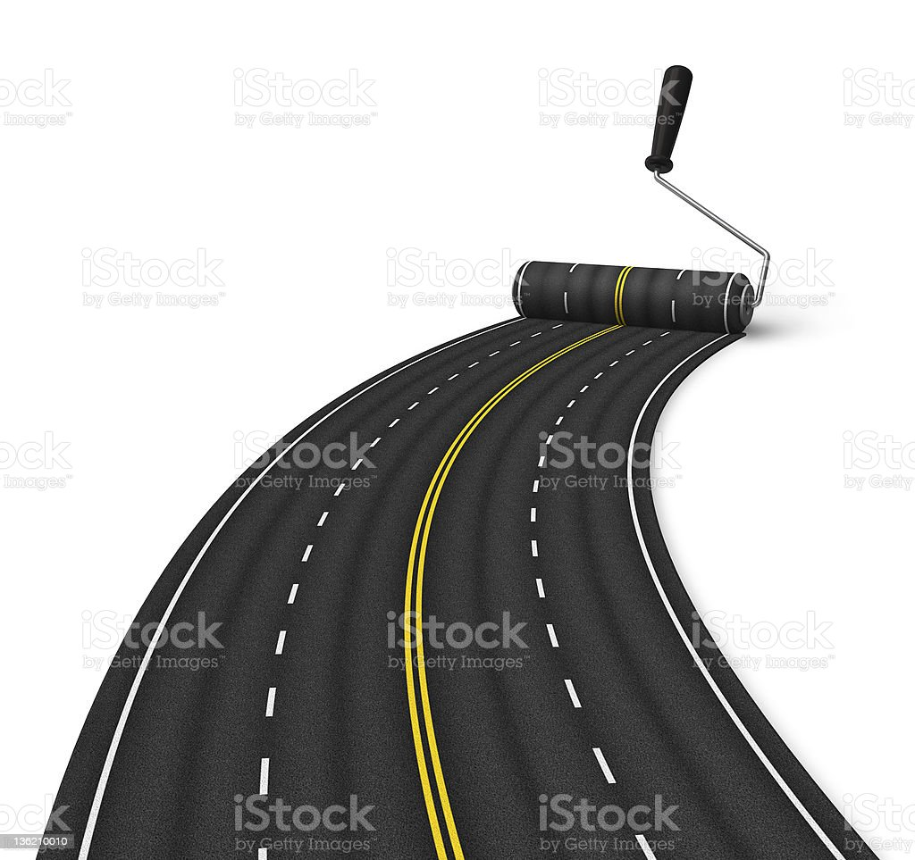 Road construction concept stock photo