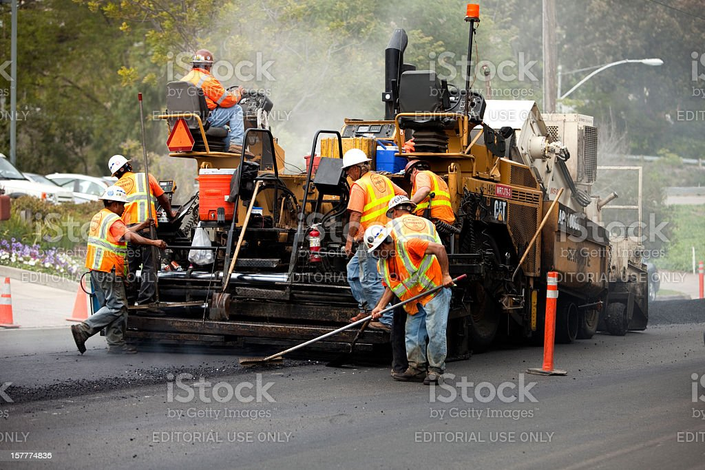 Road Construction Heavy Equipment stock photo