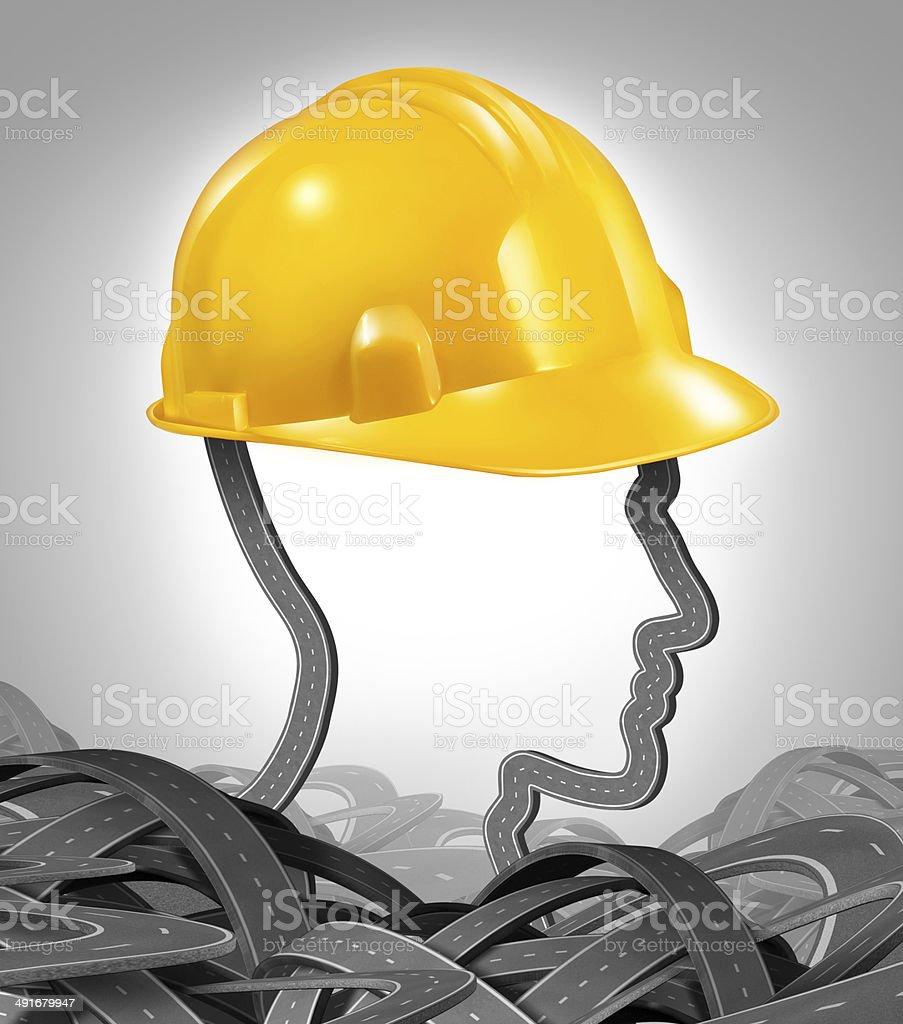 Road Construction Management stock photo