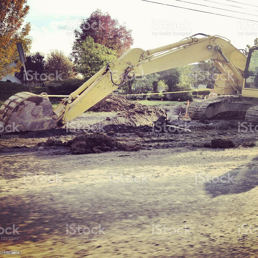 Road Construction royalty-free stock photo
