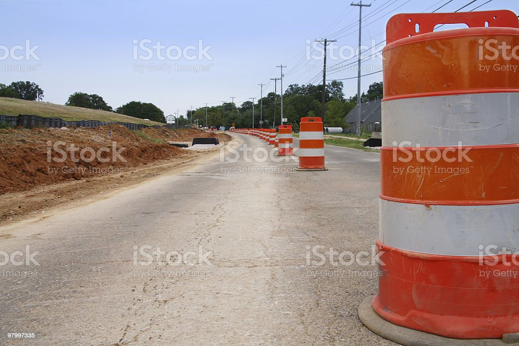 Road Construction royalty free stockfoto