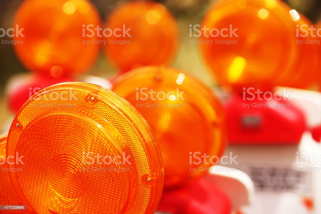 Road Construction Safety Reflector Flasher stock photo
