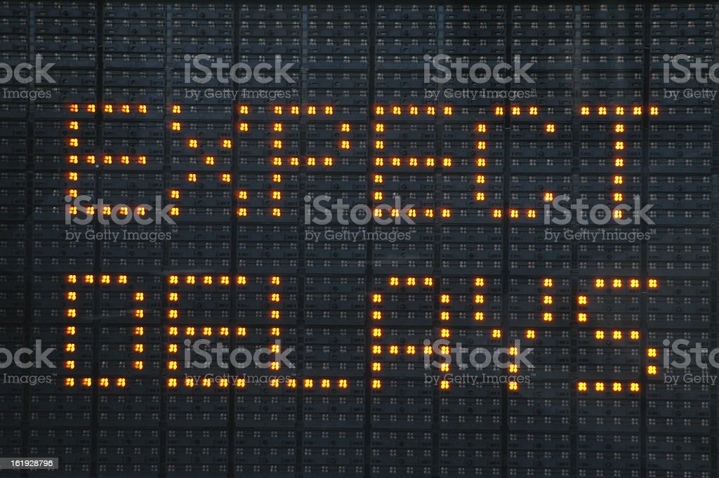 Road construction sign telling motorists to expect delays Urban traffic congestion sign saying Expect Delays Anticipation Stock Photo