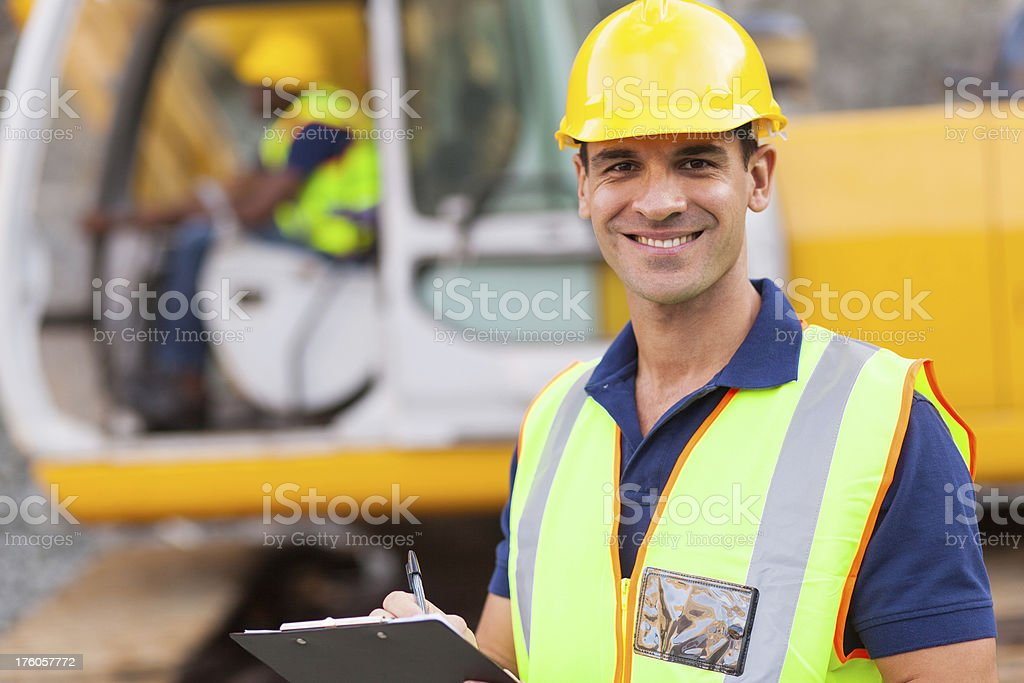 road construction supervisor royalty-free stock photo