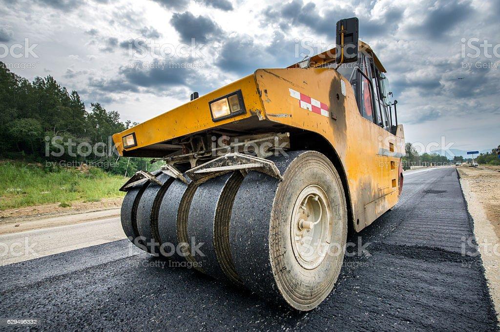 Road construction vehicle stock photo