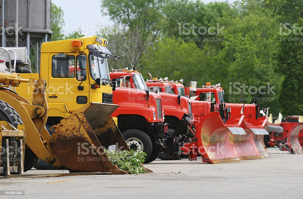 Road Contractor Equipment Vehicles royalty-free stock photo