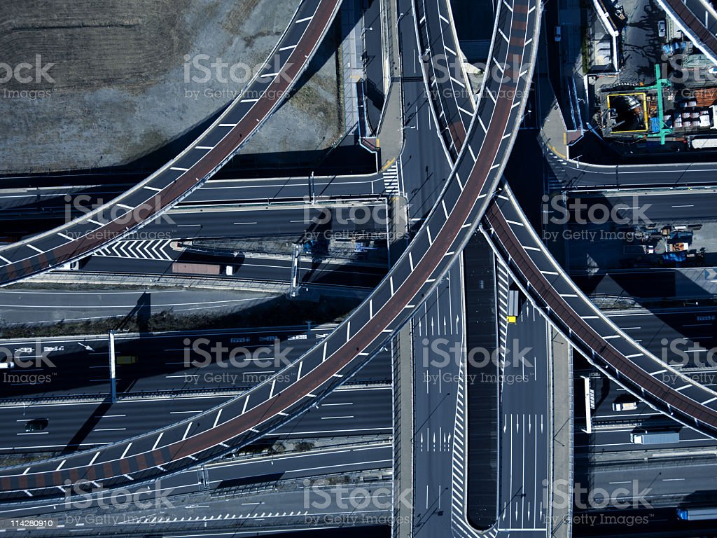 Road crossing royalty-free stock photo