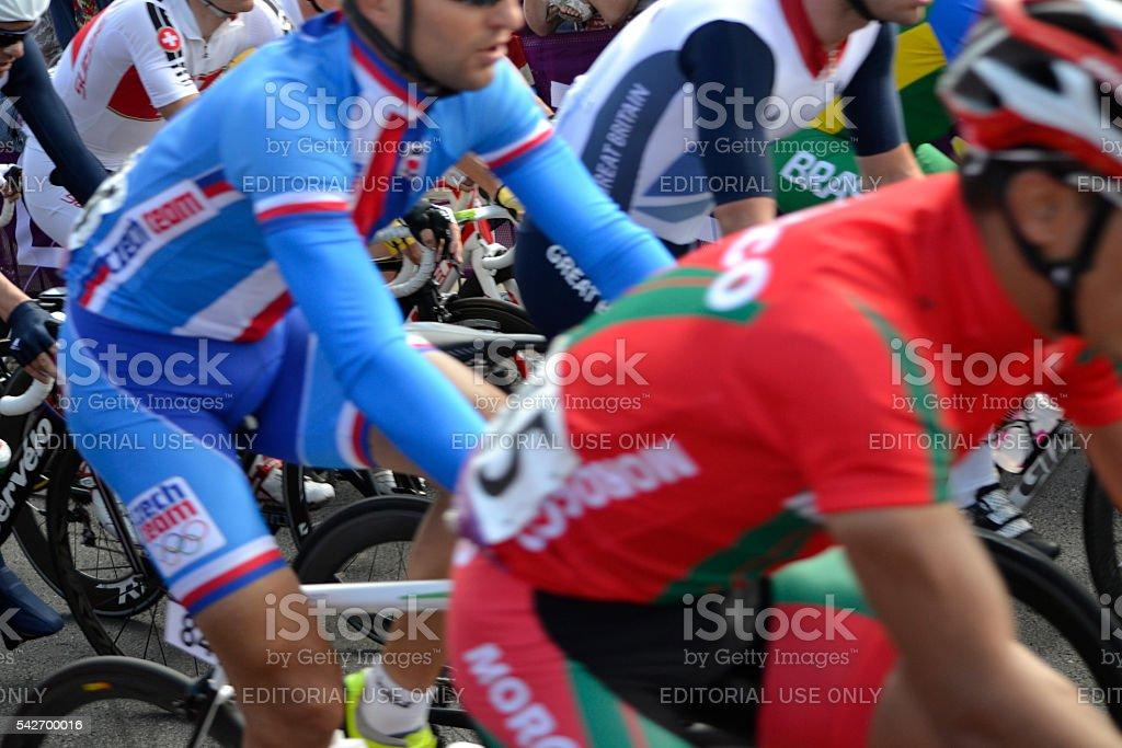 Road Cycling London Olympics Blurred stock photo