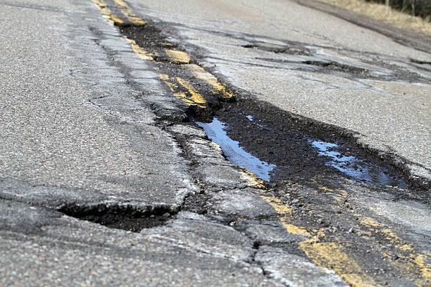 Road Damage stock photo