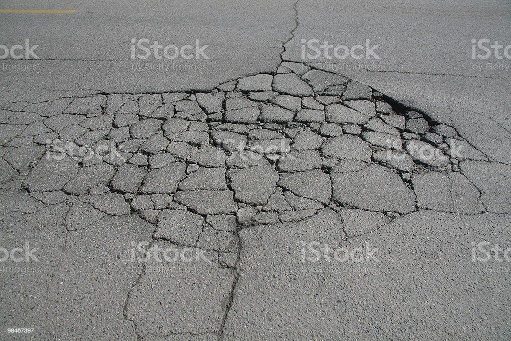 Road damage royalty-free stock photo