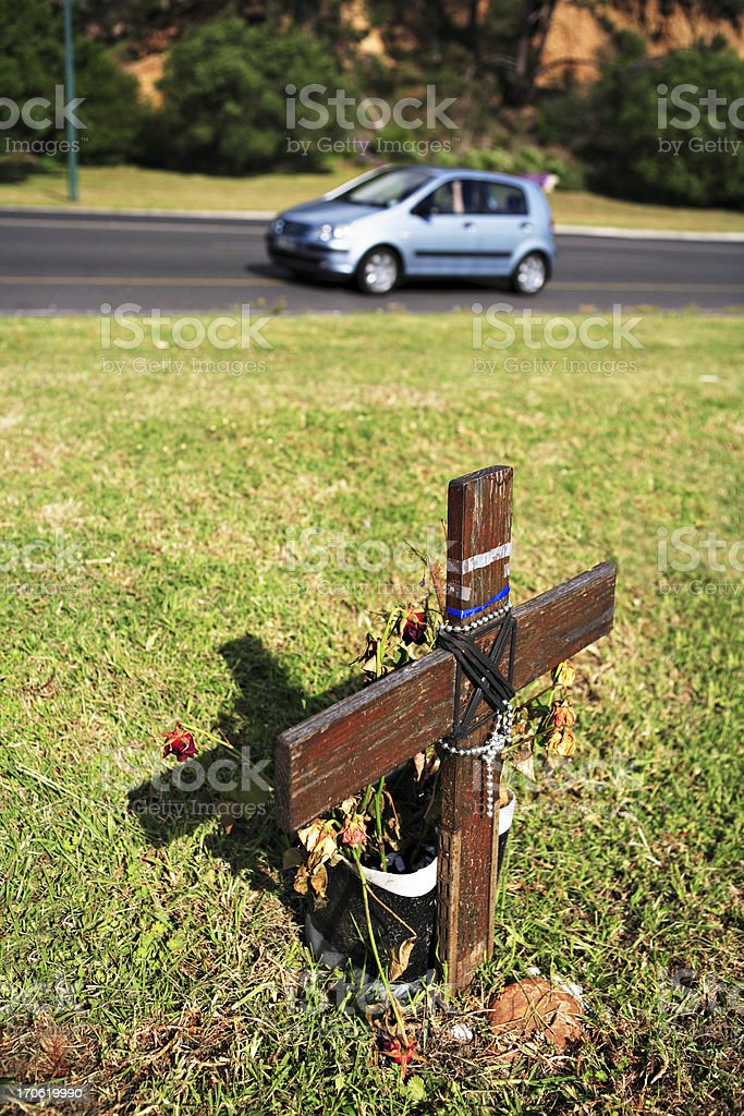 Road death royalty-free stock photo