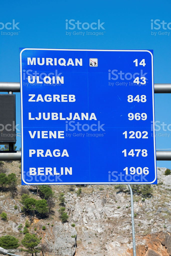 Road Distance Sign To European Destinations Stock Photo Download Image Now Istock
