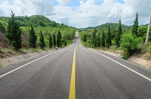 Road down the mountain in Thailand